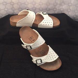 Birki's by Birkenstock White Double Strap Sandals